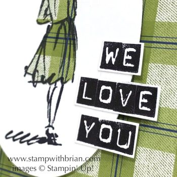Beautiful You, Labeler Alphabet, Stampin' Up!, Brian King, Thinking of You card