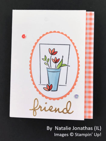 Spring One-for-One Card Swap, Stampin' Up!, by Natalie Jonathas