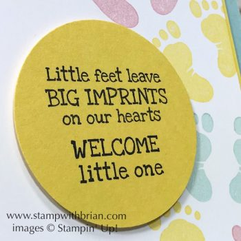 First Steps, Stampin' Up!, Brian King, baby card