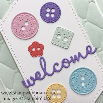 Arts & Crafts Dies, Stitched Nested Labels Dies, Well Written Dies, Tufted 3D Embossing Folder, Stampin' Up!, Brian King