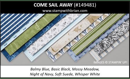 Come Sail Away Designer Series Paper, Stampin' Up! 2019 Annual Catalog, 149481