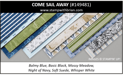 Come Sail Away Designer Series Paper, Stampin' Up! 2019 Annual Catalog, 149481