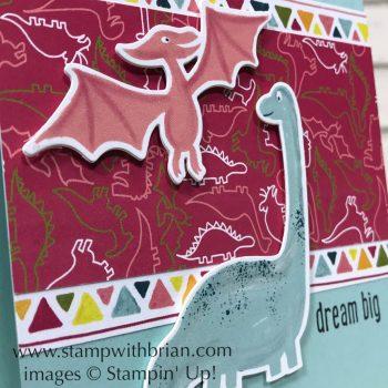 Dinoroar Designer Series Paper, Dino Dies, Over the Moon, Stampin' Up!, Brian King