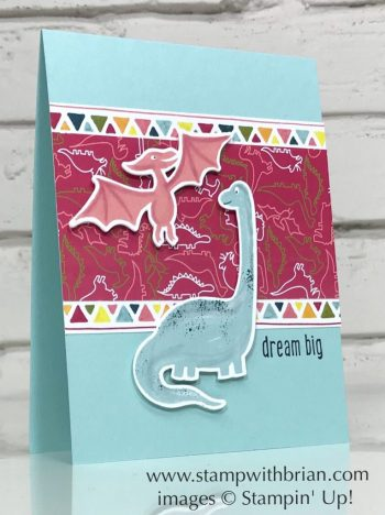 Dinoroar Designer Series Paper, Dino Dies, Over the Moon, Stampin' Up!, Brian King