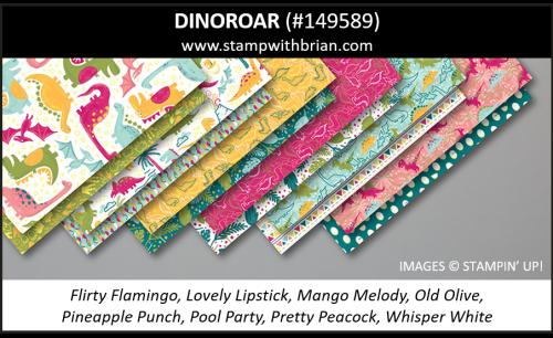 Dinoroar Designer Series Paper, Stampin' Up! 2019 Annual Catalog, 149589