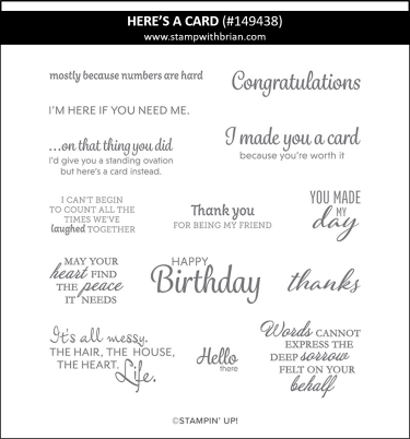 Here's a Card, Stampin' Up! 149438