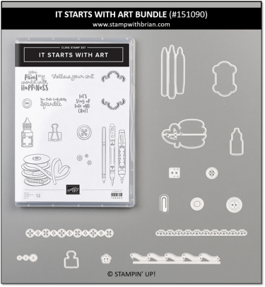 It Starts with Art Bundle, Stampin' Up!, 151090