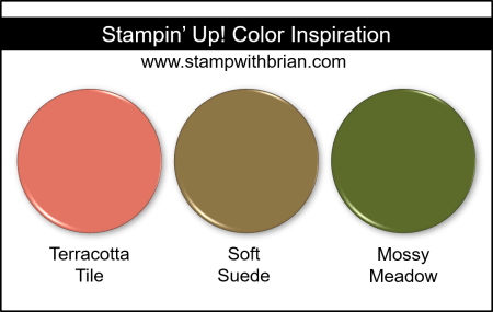 Stampin' Up! Color Inspiration - Terracotta Tile, Soft Suede, Mossy Meadow