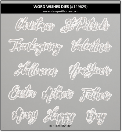 Word Wishes Dies, Stampin' Up! 149629