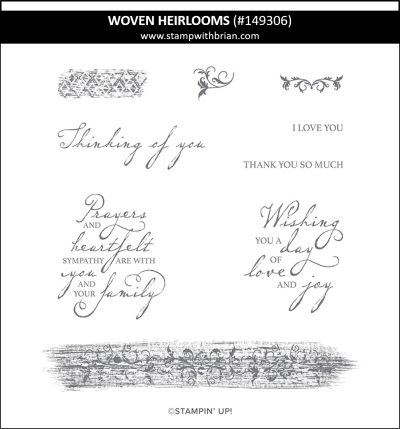 Woven Heirlooms, Stampin' Up!, 149306