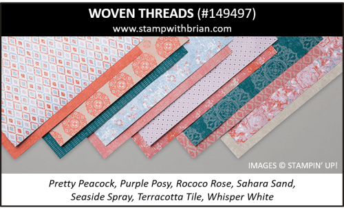 Woven Threads Designer Series Paper, Stampin' Up! 149497
