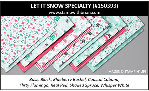 Let it Snow Specialty Designer Series Paper, Stampin' Up! 2019 Holiday Catalog, 150393