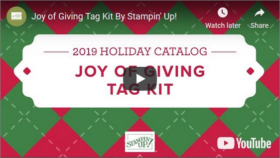 Joy of Giving Tag Kit video