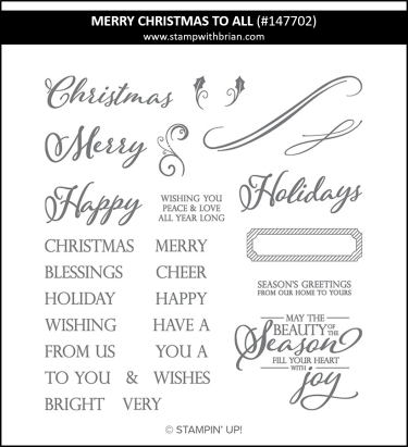 Merry Christmas to All, Stampin' Up! 147702
