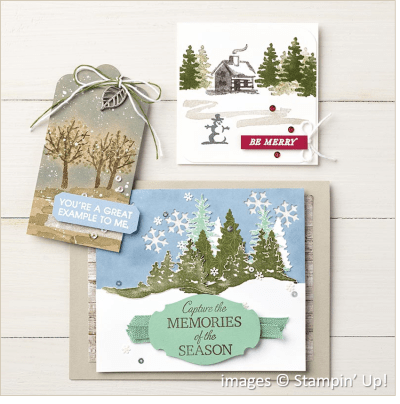 Snow Front, Stampin' Up! samples