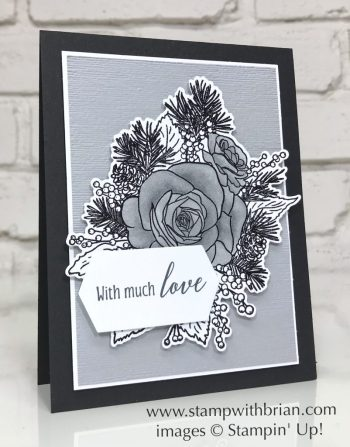 Christmas Rose Bundle, Tropical Chic, Stampin' Up!, Brian King, Wedding Card
