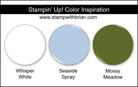 Stampin' Up! Color Inspiration - Whisper White, Seaside Spray, Mossy Meadow