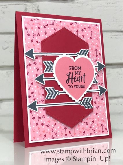 Heartfelt Bundle, Stampin Up!, Brian King, Valentine's Day Card