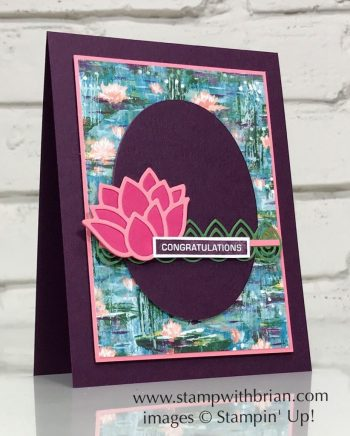 Label Me Bold, Lily Pad Dies, Stampin Up!, Brian King