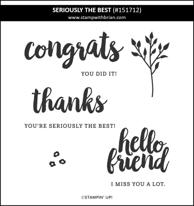 Seriously the Best, Stampin' Up! 151712