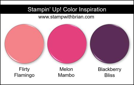 Stampin Up! Color Inspiration - Flirty Flamingo, Melon Mambo, Blackberry Bliss