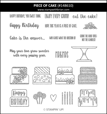 Piece of Cake, Stampin Up! 148610