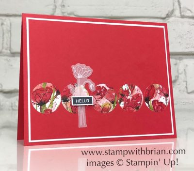 Label Me Bold, Peaceful Poppies Designer Series Paper, Stampin Up!, Brian King