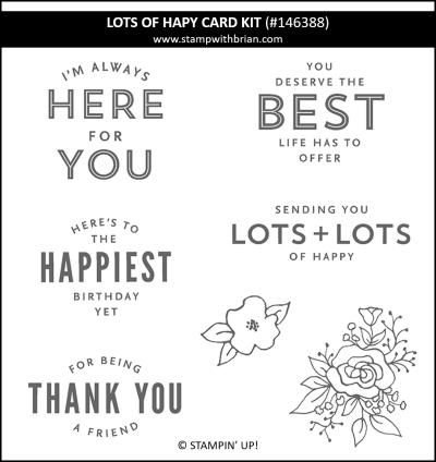 Lots of Happy Card Kit, Stampin Up! 146388 stamp set