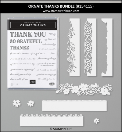 Ornate Thanks Bundle, Stampin Up! 154115