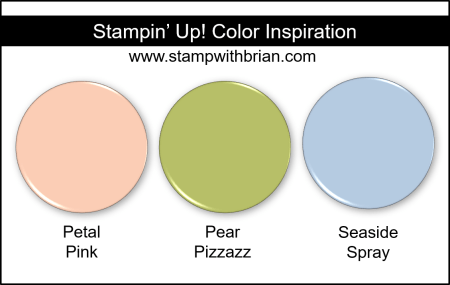 Stampin Up! Color Inspiration - Petal Pink, Pear Pizzazz, Seaside Spray