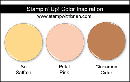 Stampin Up! Color Inspiration - So Saffron, Petal Pink, Cinnamon Cider