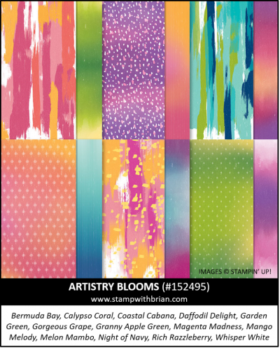 Artistry Blooms Designer Series Paper, Stampin Up!, 152495