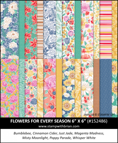 Flowers for Every Seasons Designer Series Paper, Stampin Up!, 152486