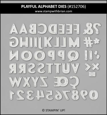 Playful Alphabet Dies, Stampin Up! 152706