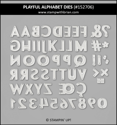 Playful Alphabet Dies, Stampin Up! 152706
