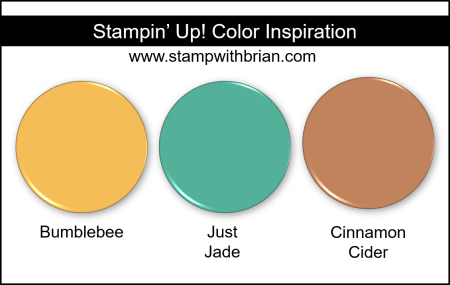 Stampin' Up! Color Inspiration - Bumblebee, Just Jade, Cinnamon Cider