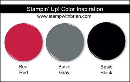 Stampin' Up! Color Inspiration - Real Red, Basic Gray, Basic Black