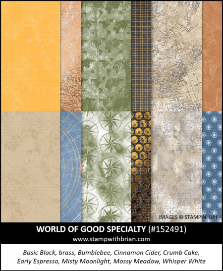 World of Good Specialty Designer Series Paper, Stampin Up!, 152491
