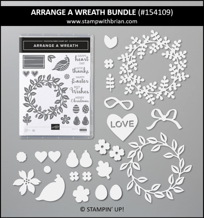 Arrange a Wreath Bundle, Stampin Up! 154109
