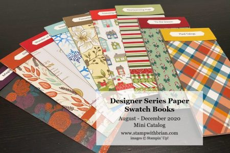 August - December 2020 Mini Catalog Swatch Books, Stampin Up!, Brian King b