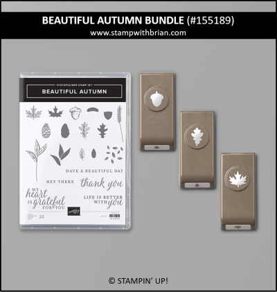 Beautiful Autumn Bundle, Stampin Up! 155189