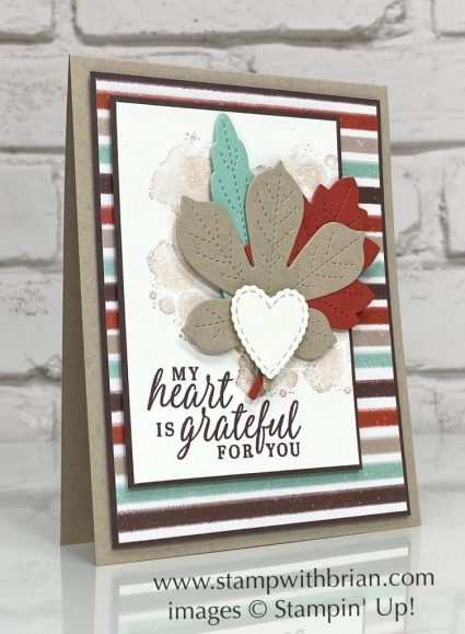 Beautiful Autumn, Stitched Leaves Dies, Stampin Up!, Brian King