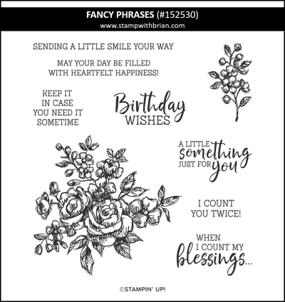 Fancy Phrases, Stampin Up! 152530