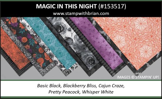 Magic in this Night Designer Series Paper, Stampin Up! 153517
