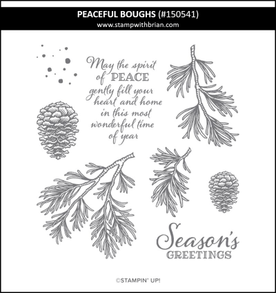 Peaceful Boughs, Stampin Up!, 150541