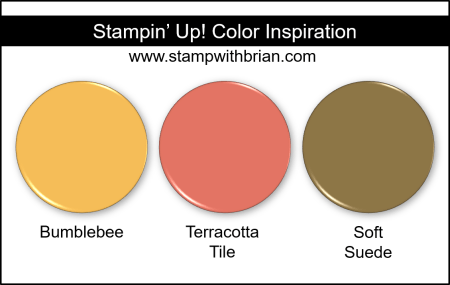 Stampin' Up! Color Inspiration - Bumblebee, Terracotta Tile, Soft Suede