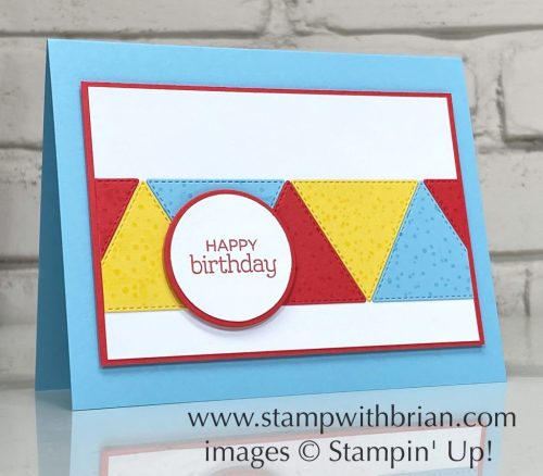 Zoo Globe, The Right Triangle Bundle, Stampin Up!, Brian King, birthday card