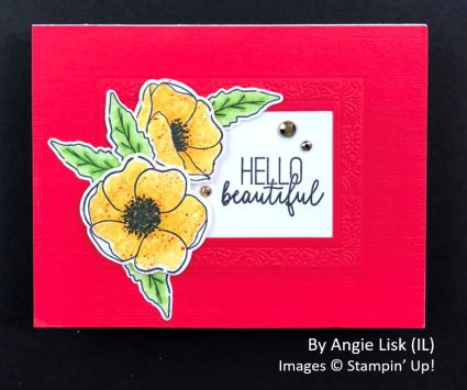 by Angie Lisk, Sending Love One-for-One Card Swap, Stampin Up!