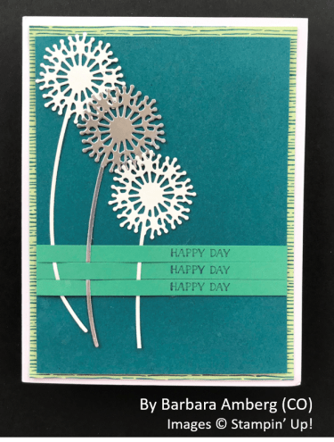 by Barbara Amberg, Sending Love One-for-One Card Swap, Stampin Up!