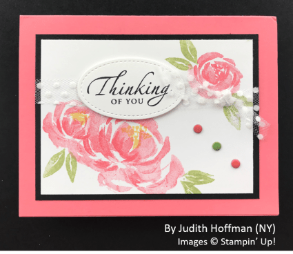 by Judith Hoffman, Sending Love One-for-One Card Swap, Stampin Up!